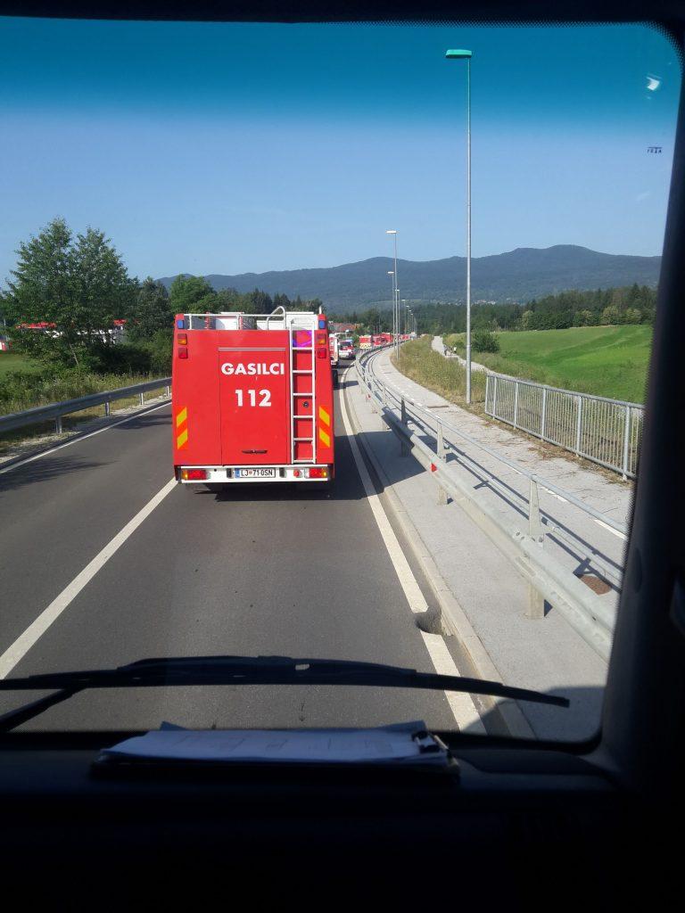Vožnja v konvoju v Črnomelj